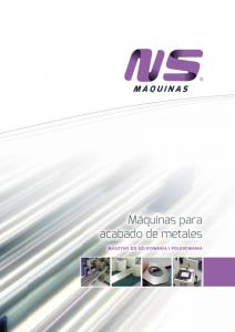 Catalogo NS Maquinas ESPL