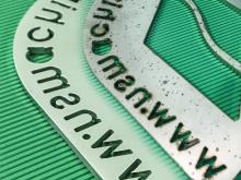 metal deburring and edge rounding metal sheet piece | Entgratmaschinen |