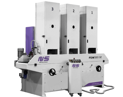 Flat Bar and Rectangular Tube Finishing machines - FGW330-3Z